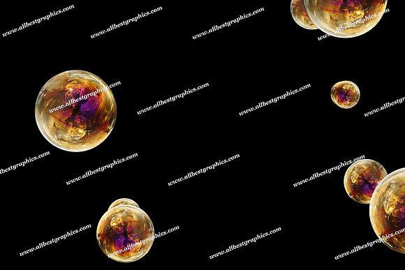 Whimsical Air Bubble Overlays   Stunning Photo Overlay on Black