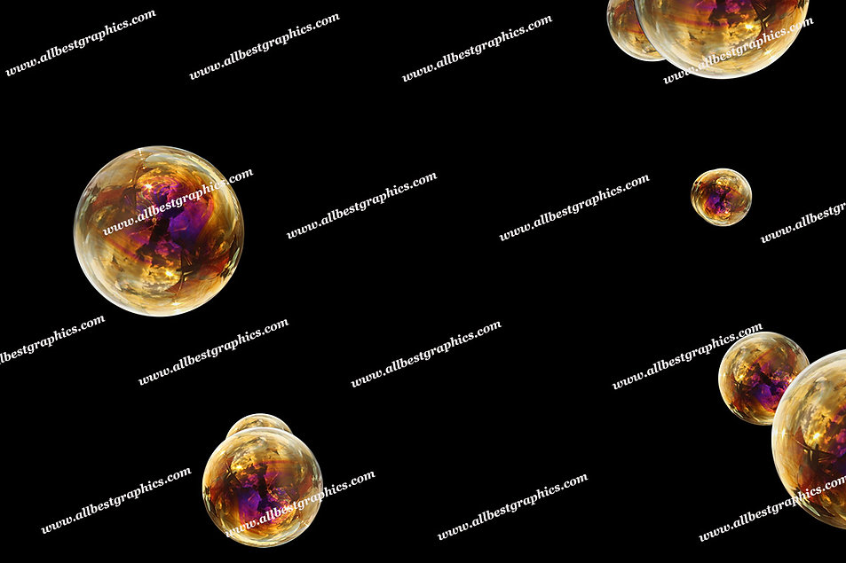 Whimsical Air Bubble Overlays | Stunning Photo Overlay on Black