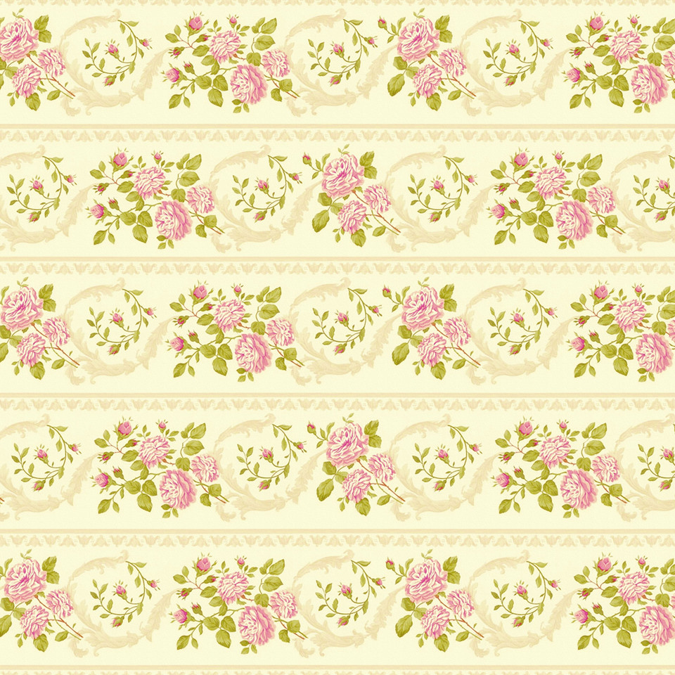 Spring peony digital paper with seamless design | Scrapbook Papers