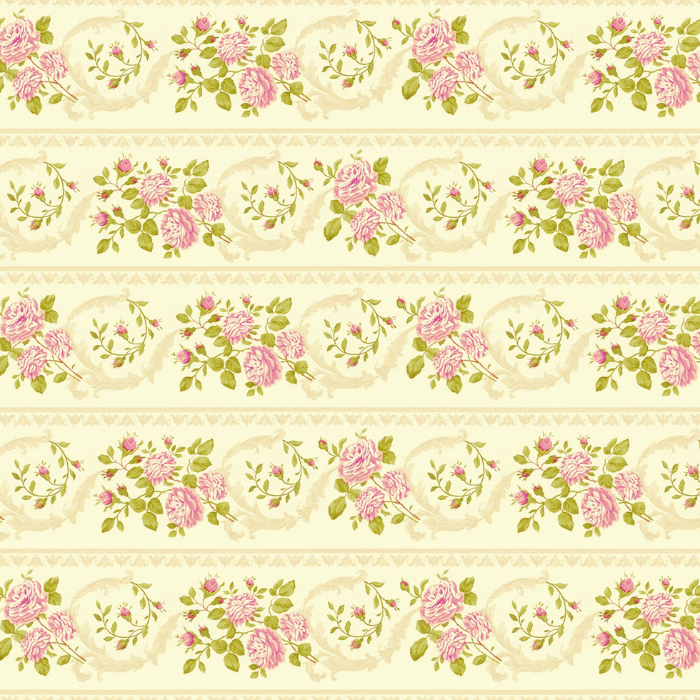 Spring peony digital paper with seamless design   Scrapbook Papers