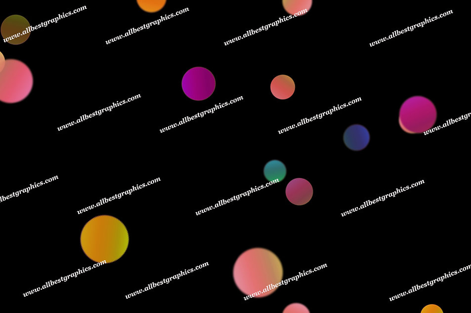 Colorful Festive Lights Bokeh Clipart   Incredible Photo Overlays on Black