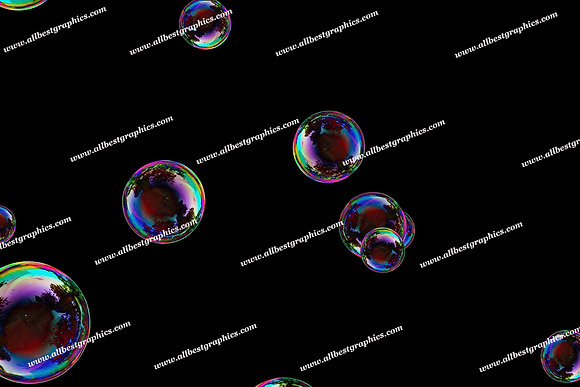 Spring Colorful Bubble Overlays | Professional Photoshop Overlay on Black