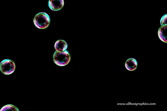 Awesome blowing soap bubbles on black background | Bubble Photo Overlays