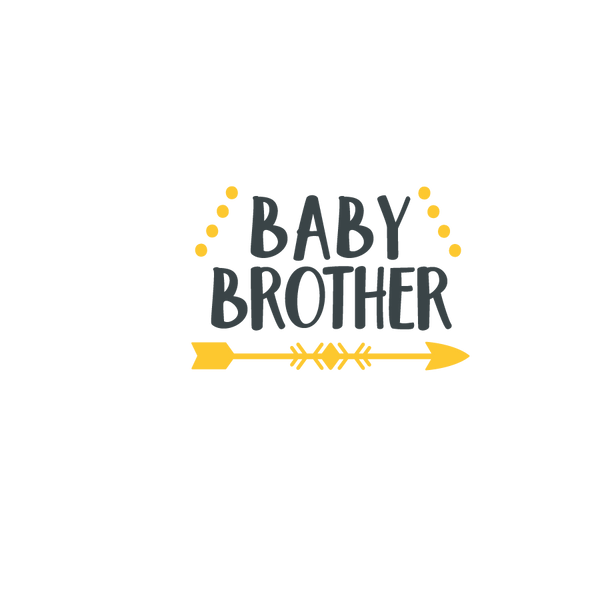 Baby brother | Free Iron on Transfer Cool Quotes T- Shirt Design in Png