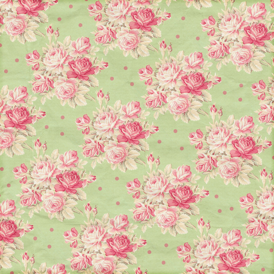 Shabby Chic peonies digital paper with seamless design | Fine Art Digital Papers
