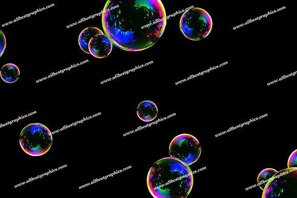 Awesome Rainbow Bubble Overlays   Professional Photoshop Overlays on Black