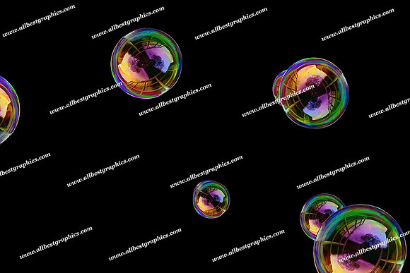 Spring Rainbow Bubble Overlays | Professional Photoshop Overlay on Black