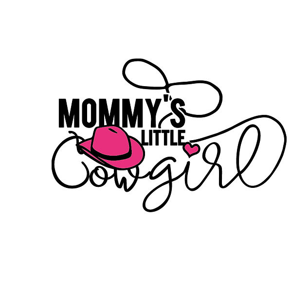 Mommy's little cowgirl Png | Free download Printable Sassy Quotes T- Shirt Design in Png