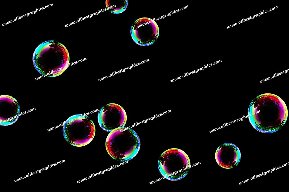 Gorgeous Colorful Bubble Overlays   Stunning Photo Overlays on Black