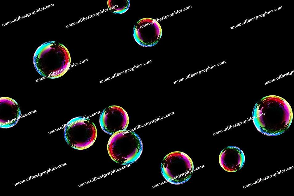 Gorgeous Colorful Bubble Overlays | Stunning Photo Overlays on Black