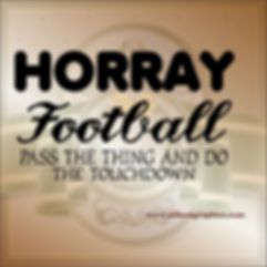 Horray football | Funny Quotes Cut files in Eps Svg Dxf Png Pdf