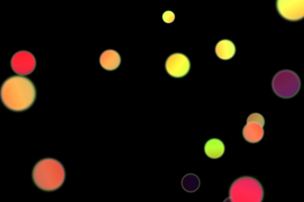 Colorful Holiday Light Bokeh Overlay on black background | Photo Overlays