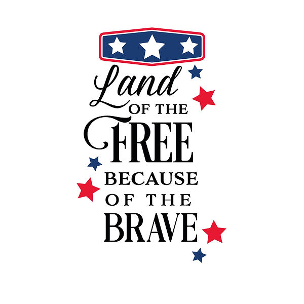 Land of the free because of the brave Png   Free download Printable Sassy Quotes T- Shirt Design in Png