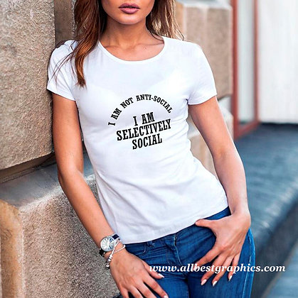 I am not anti-social I'm social | Sassy T-Shirt Quotes Cut files in Svg Dxf Eps