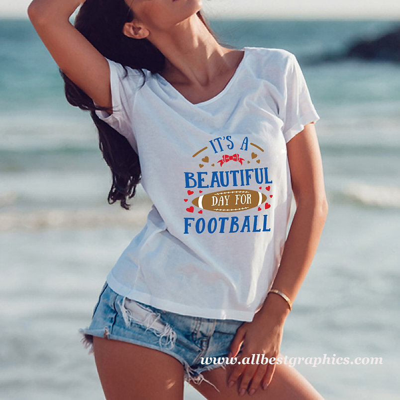 It's a Beautiful Day For Football   Slay and Silly Sport Quotes & Signs in Svg