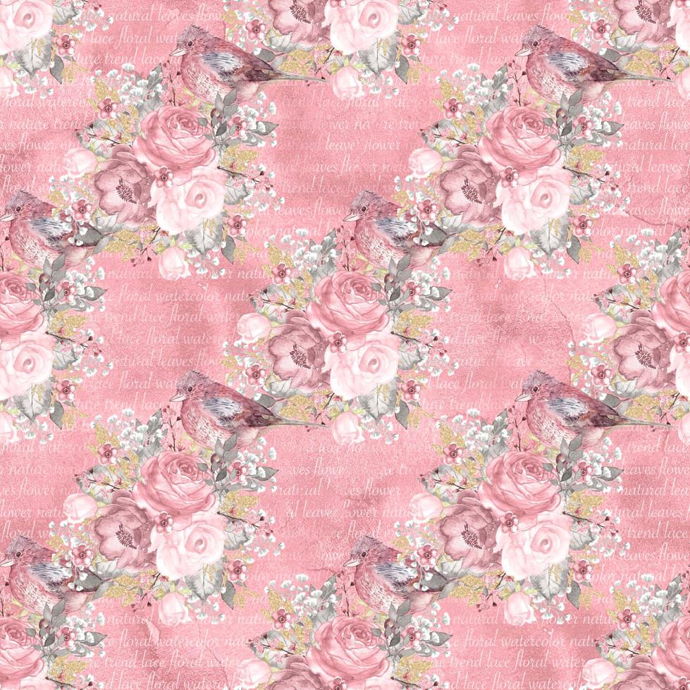 Luxury watercolor digital paper with floral design | Fine Art Digital Paper