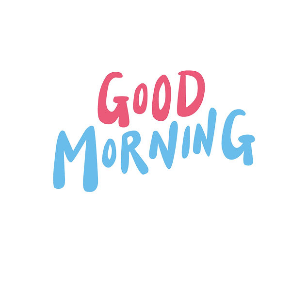 Good morning Png | Free download Iron on Transfer Cool Quotes T- Shirt Design in Png