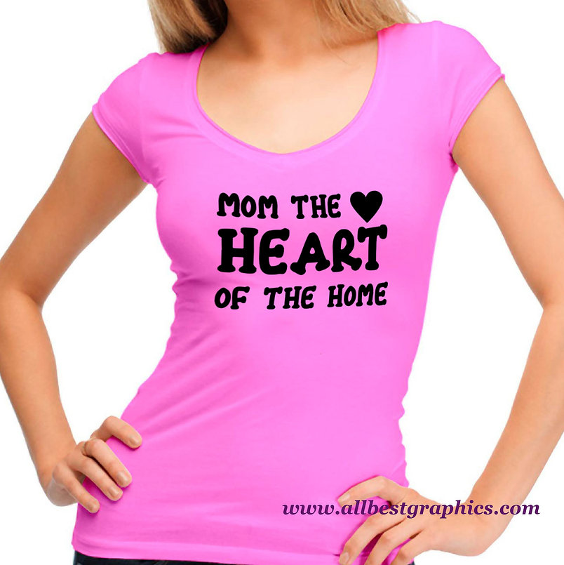 Mom The Heart of The Home   Best Mom Quotes & Signs Cut files in Dxf Eps Svg