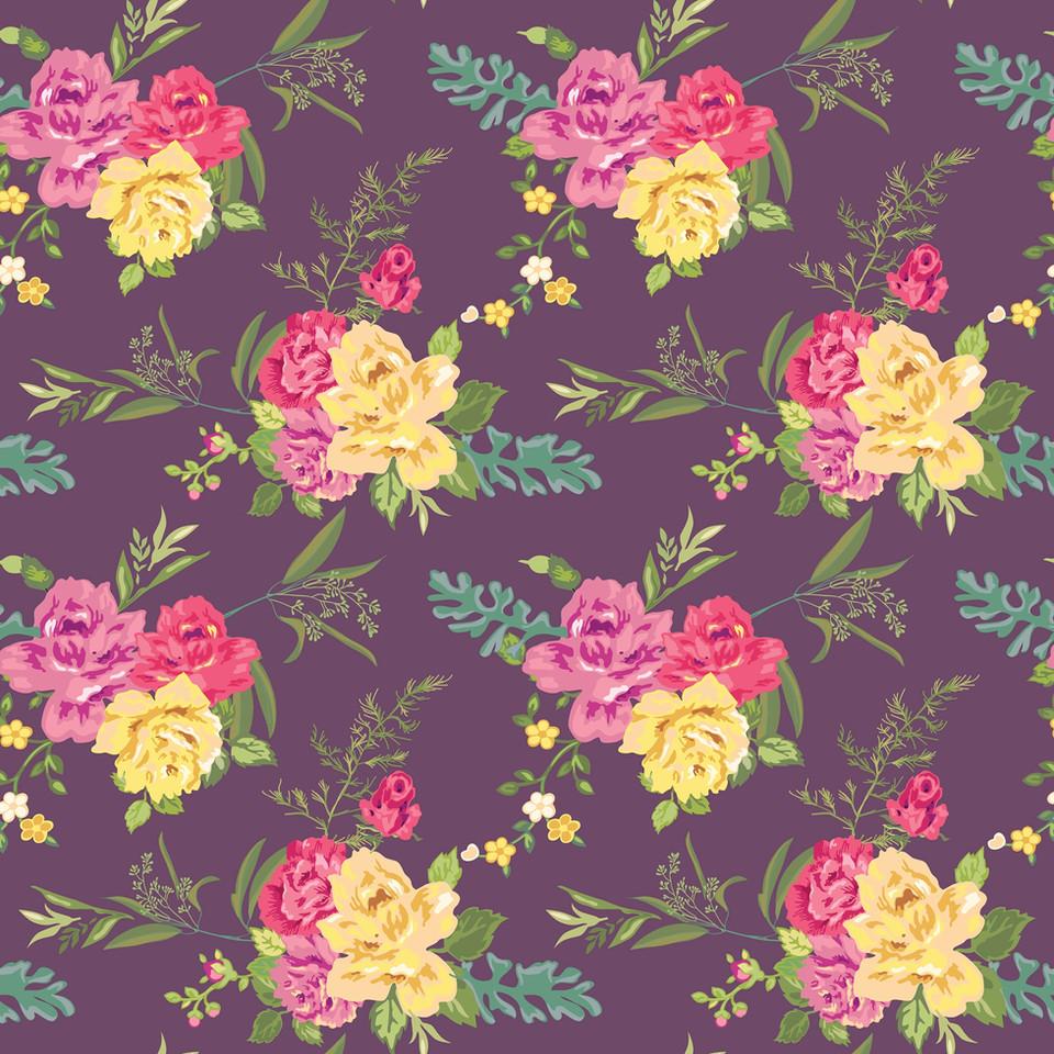 Pastel peonies digital paper with seamless design | Fine Art Digital Papers