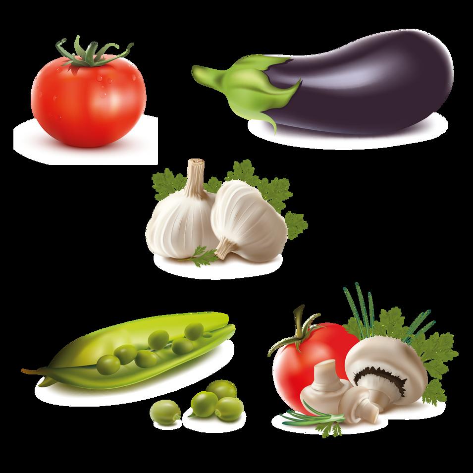 Eggplant Garlic Pepper | Food clip art free download -size 2400x2400 300ppi