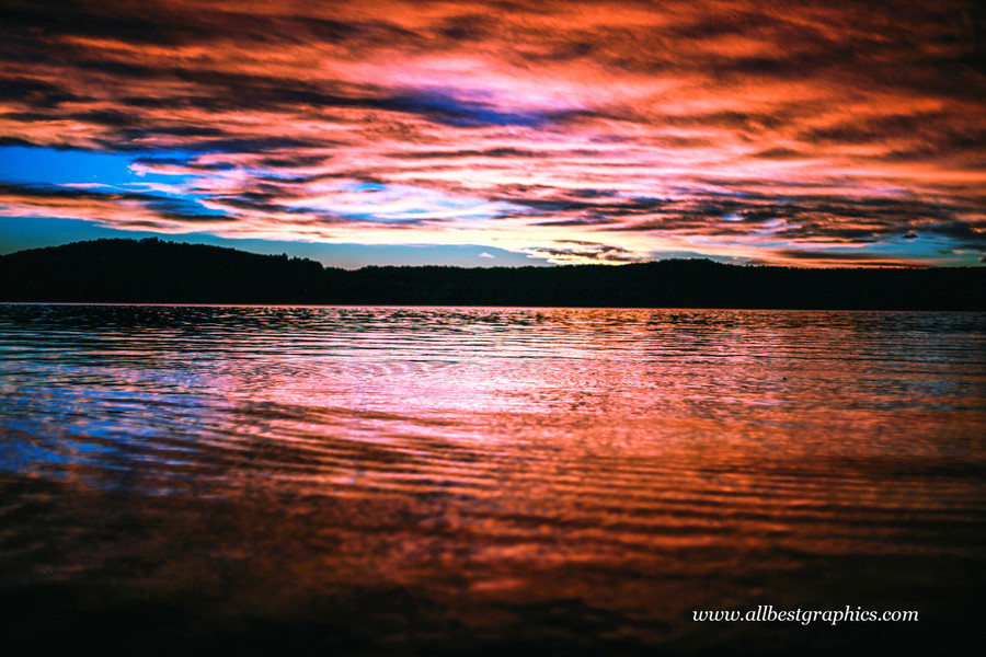 Glorious cloudy sunset sky with clouds | Photo overlays