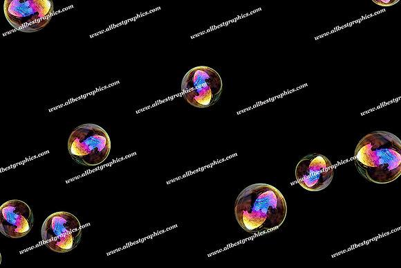Adorable Rainbow Bubble Overlays | Incredible Overlay for Photoshop on Black