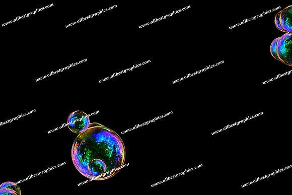 Summer Rainbow Bubble Overlays | Unbelievable Photoshop Overlays on Black