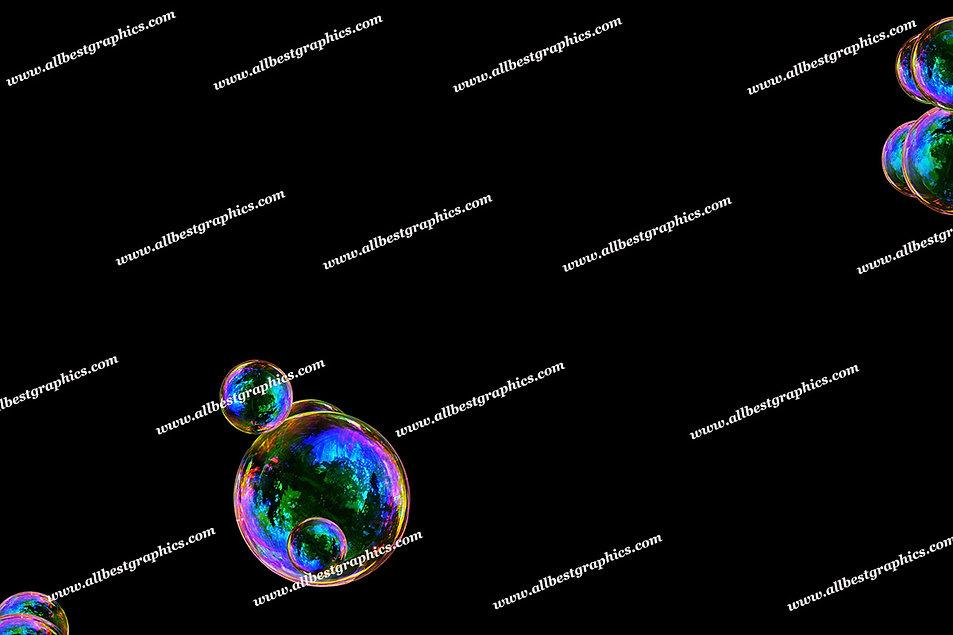 Summer Rainbow Bubble Overlays   Unbelievable Photoshop Overlays on Black
