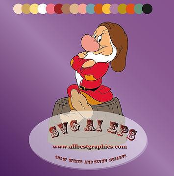 I'm Grumpy Dwarf - Disney clipart |  Seven Dwarfs clip art Eps Svg Dxf