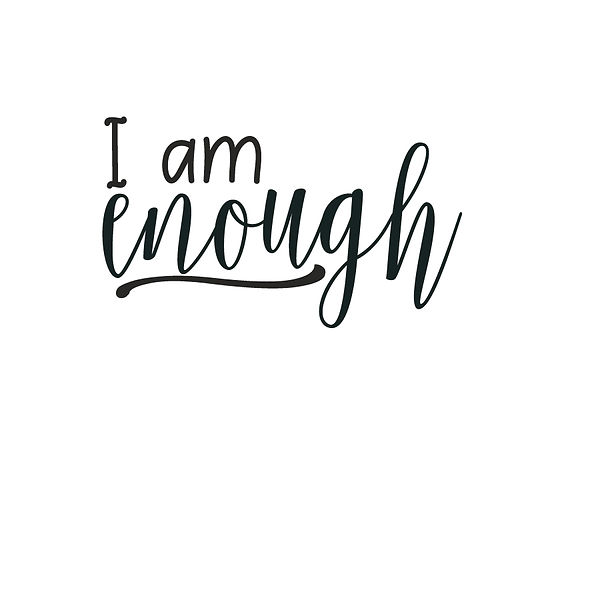 I am enough Png | Free Iron on Transfer Slay & Silly Quotes T- Shirt Design in Png