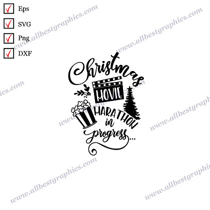 Christmas Movie Marathon | Cool Quotes Vector Graphics Christmas Design Png Dxf