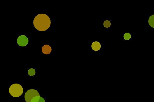 Realistic Festival Light Bokeh Background on black background | Free Download