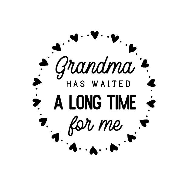 Grandma has waited a long time Png | Free Iron on Transfer Slay & Silly Quotes T- Shirt Design in Png