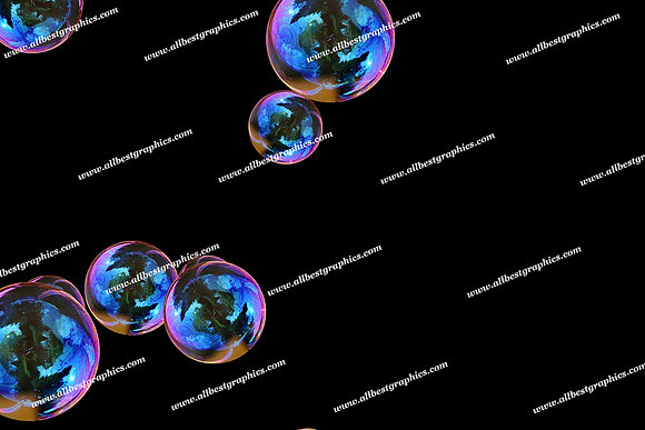 Spring Soap Bubble Overlays | Fantastic Photoshop Overlays on Black