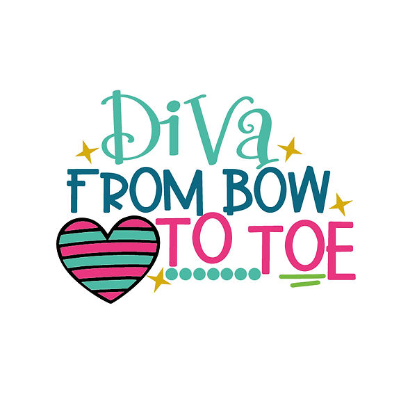 Diva from bow to toe Png | Free download Printable Funny Quotes T- Shirt Design in Png