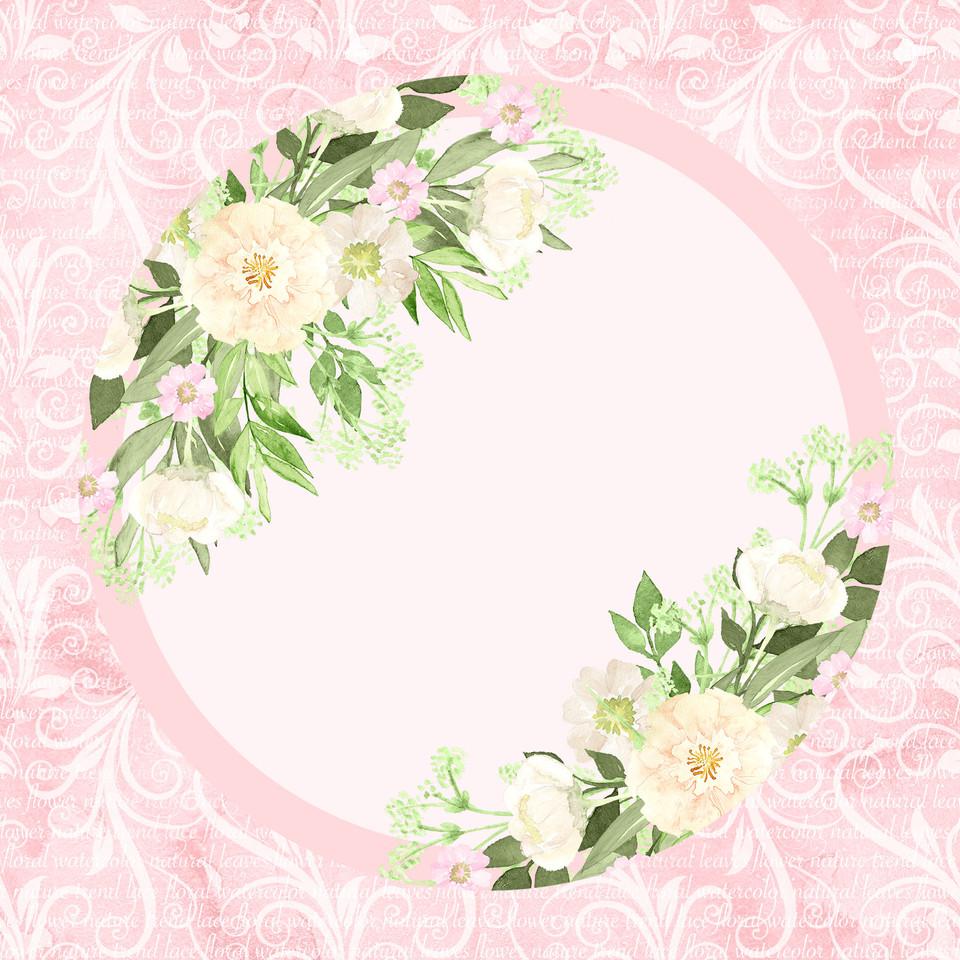 Royal watercolor digital paper with roses | Printable Digital Paper