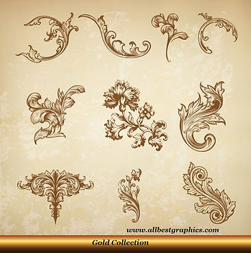 Acanthus leaves   Retro decorative elements vector clipart_90326.006