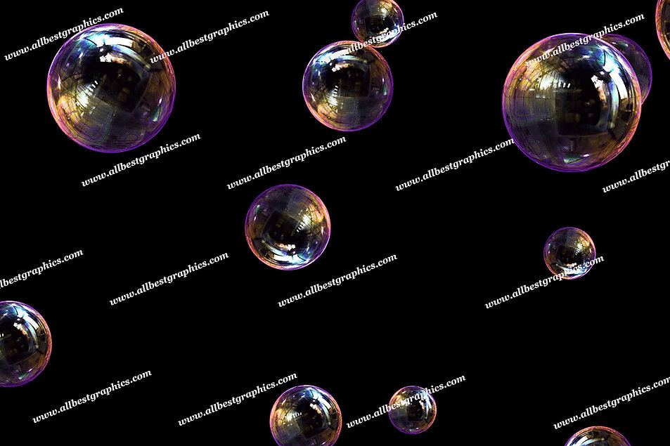 Summer Blowing Bubble Overlays | Fantastic Photo Overlay on Black