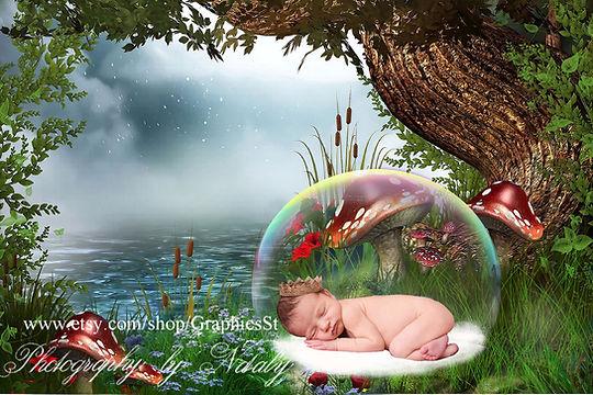 Awesome Newborn Digital Backdrop | Newborn photo props