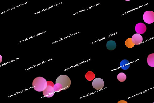 Colorful Romantic Lights Bokeh Background | Elegant Photoshop Overlay on Black