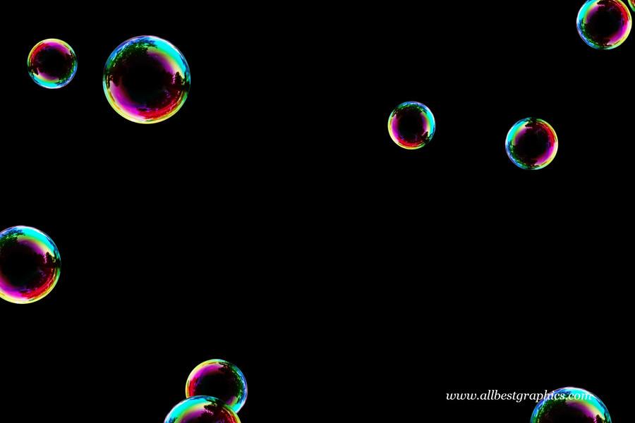 Dreamy bathroom soap bubbles on black background | Bubble Photoshop overlays