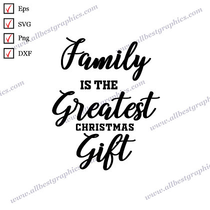 Greatest Christmas Gift | Cool Quotes Hand-Lettering Christmas Decor Cut files
