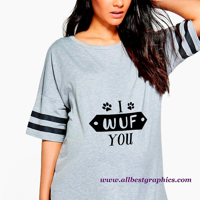 I Wuf You   Cool Quotes & Signs about PetsCut files inDxf Svg Eps