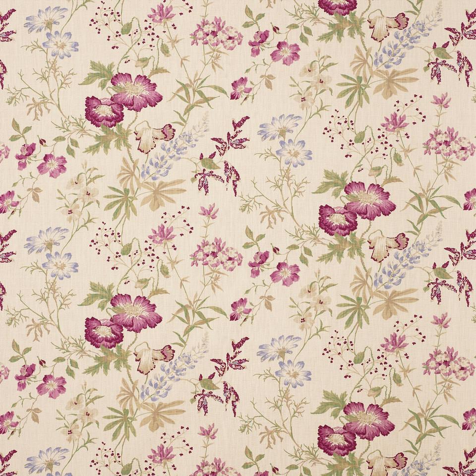 Summer floral digital paper with pink flowers | Scrapbook Digital Paper