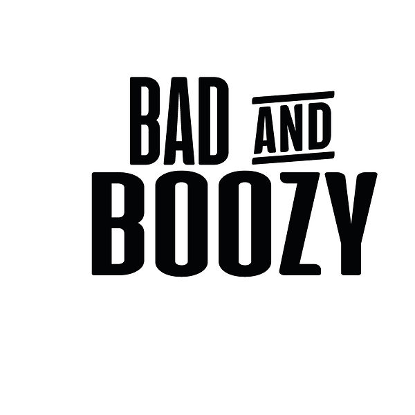 Bad and boozy   Free download Printable Cool Quotes T- Shirt Design in Png