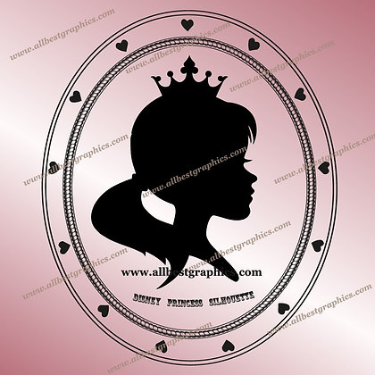 Disney Princess Outline Clipart | Disney Cartoons Cut Files for Cricut
