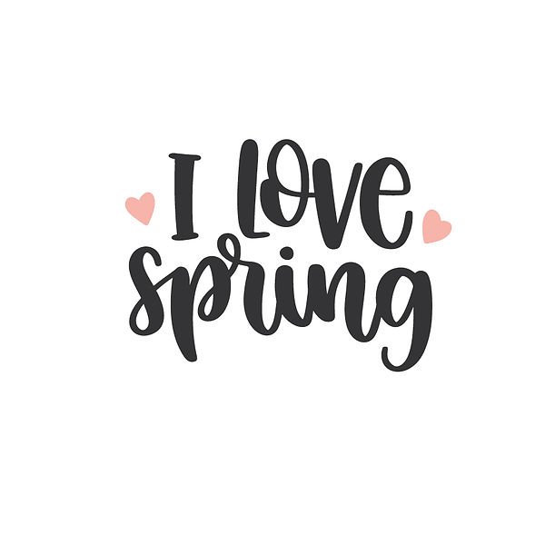 I love spring Png   Free download Iron on Transfer Cool Quotes T- Shirt Design in Png