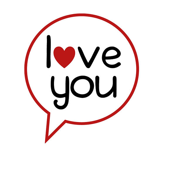 Love you  Png | Free download Iron on Transfer Funny Quotes T- Shirt Design in Png