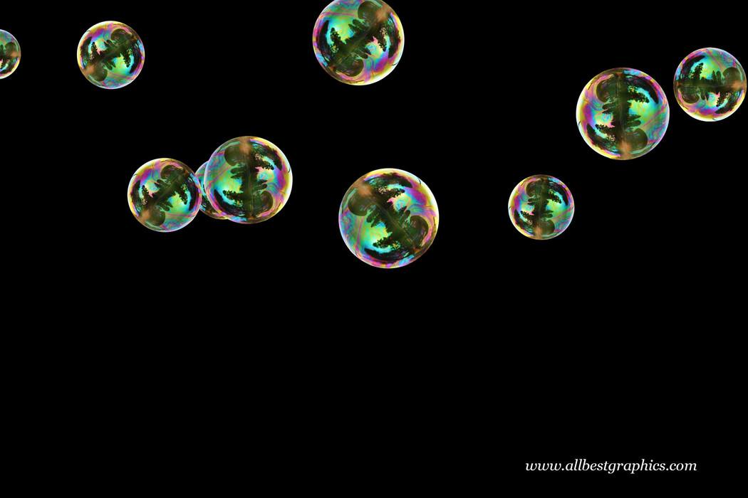 Wondrous bathroom soap bubbles on black background | Bubble Photoshop overlays