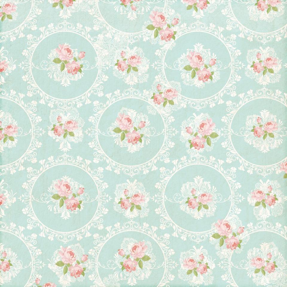Watercolor floral digital paper with pastel flowers | Printable Digital Paper